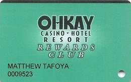 Ohkay Casino San Juan Pueblo, NM Printed Slot Card - Casino Cards