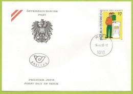 Autriche 1993 1923 FDC Droits De L'enfant Rechte Des Kindes - Childhood & Youth