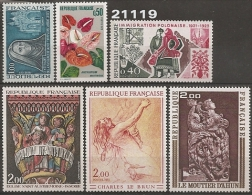 1973 - YT 1737/8 - 1740/3 ** - VC: 6.10 Eur. - France