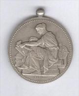 Médaille Société Industrielle De Rouen - Bronze Argenté - Firma's