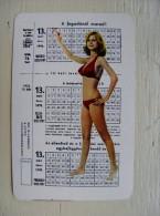 Small Calendar From Hungary ?  Woman 1976 - Kalender