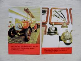 2 Calendar From Latvia 1984 Fire Transport Auto Museum - Kalender