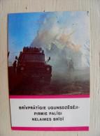 Calendar From Latvia 1990 Fire Transport Auto - Kalender