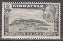 Gibralter    Scott No.  98   Unused Hinged    Year  1931 - Gibraltar