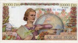 10 000 Francs Type GENIE FRANCAIS Du 7 Janvier 1954 - 1871-1952 Anciens Francs Circulés Au XXème