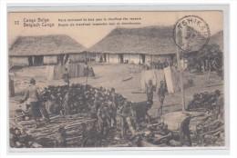 CONGO BELGE -- BUREAU DE TSHIKAPA -- CP NON CIRCULEE DE 1921 --- - Belgian Congo