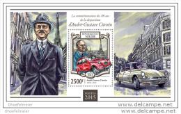 NIGER 2015 ** S/S Andre Gustave Citroën Citroen Car Auto Voiture A1509 - Voitures