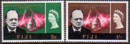FIJI 1966 SG #346-47 Part Set 3d And 2sh6d Missing MNH Churchill - Fiji (...-1970)
