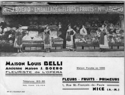 FLEURISTE  / LOUIS  BELLI ./ LOT  1303 - Nice