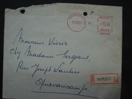EMA. 26. Empreinte Machine  De Charleroi En 1961 En Recommandé. N°P2035 - Marcofilia