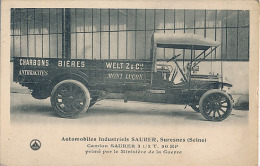 SURESNES - AUTOMOBILES INDUSTRIELS SAURER - CAMION SAURER 31/2T. 30 HP - PRIME PAR LE MINISTERE DE LA GURRE - Transporter & LKW