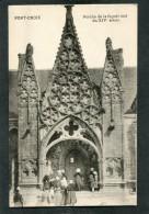 CPA - PONT CROIX - Le Porche De L'Eglise, Très Animé - Pont-Croix