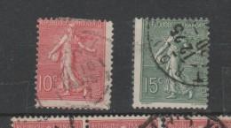 YT 129 Et 130 - Piquages Décalés - 1903-60 Sower - Ligned