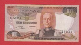 Angola //  100 Escudos 24/11/72   // - Angola