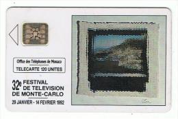 Télécarte   MONACO   32 E  Festival De Télévision   1992    Tirage 30 000 Ex - Monaco