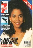 Télé 7 Jours N° 1639 - Semaine Du 26 Oct Au 1 Nov 1991 - 21 Jump Street, Lino Ventura, Uderzo, Rosanna Arquette, Morin - 1950 - Nu