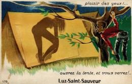 65.52 Carte A Systeme - Ouvrez La Porte Et Vous Verrez ? Luz-Saint-Sauveur. Circulee. Bon Etat. - Luz Saint Sauveur
