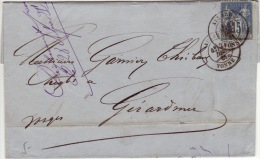YONNE - Auxerre - Lettre à Geradmer-CAD-Type18-1881 - Postmark Collection (Covers)