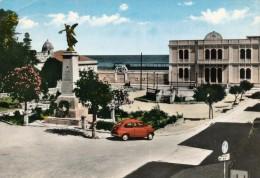 SPADAFORA (ME) PIAZZA VITTORIO EMANUELE ACQUARELLATA 1964 - Messina