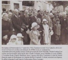 2000  --  VENDEE 85 --   CEREMONIE A ELBEE  NOIRMOUTIER LE 17 SEPT 1933   3A640 - Vieux Papiers