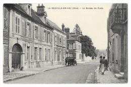 Cpa: 60 LA NEUVILLE EN HEZ (ar. Clermont) Le Bureau De Poste (Animé, Voiture) - Altri Comuni