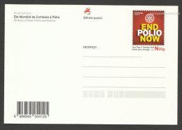 Portugal 2015 Carte Entier Postal Finir Avec La Polio Rotary Médecine Vaccination Postal Stationery End Polio Medicine - Enteros Postales