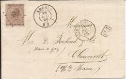 L. Affr. N°19 Lpts 49 BOUSSU/1866 Pour La France. TTB - 1865-1866 Profilo Sinistro