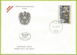 Autriche 1993 1926 FDC Journée Du Timbre Combat De Chevaliers Chevaux - Horses