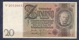Germany - 1929   - 20  Mark  E/Y .P-181a ...R 174a,, AUNC - 50 Reichsmark