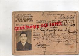 87 - SAINT BRICE - LA MALAISE- ANDRE GOUGEAUD - 1940-CROIX COMBATTANT- CARTE VICTIMES GUERRE PUPILLES NATION- - Non Classés
