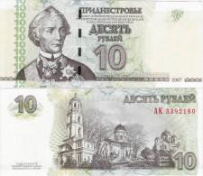 Transnistria 2007 - 10 Rublei - Pick 44 UNC - Billets