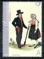 1262/ Slowenien Slovenia 2006 Mi.No. 571 ** MNH Volkstracht National Costume From Carinthia - Eslovenia
