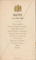 Menu Officiel Chez Le Ministre D´angleterre Mai 1888 - Menus