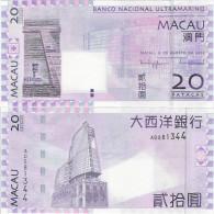 Macau 2005 - 20 Patacas - Banco Nacional Ultramarino Pick 81 UNC - Macao