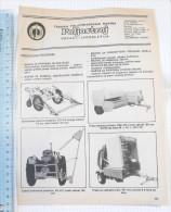 POLJOSTROJ Agricultural Machinery (Serbia) Yugoslavia/ Catalog Tractor Tracteur Traktor - Tracteurs