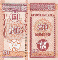 Mongolia 1993 - 20 Mongo - Pick 50 UNC - Mongolia