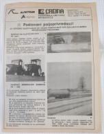 CREINA TANKS And PUMPS & AGROS Agricultural Machinery (Slovenia) Yugoslavia / Catalog Tractor Tracteur Traktor - Tracteurs