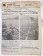 FERRALIT PUMPS & AGROS Agricultural Machinery (Slovenia) Yugoslavia / Catalog Tractor Tracteur Traktor - Tracteurs
