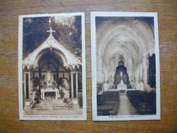 2 Cartes De Pellevoisin , Parc De L´hermitage Reposoir N.d. De Méséricorde , L´église Paroissiale - France