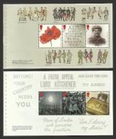 GB 2014 THE GREAT WAR WW1 PRESTIGE BOOKLET PANES MEMORIAL SET MNH - 1952-.... (Elisabetta II)