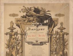 Rare Grand Menu Avocat Anvers Pour Cuylits Et Auger 1881 Fond Du Ministre Jacobs - Menus