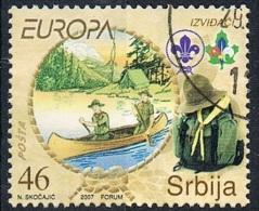2007 - SERBIA  - EUROPA - CENTENARIO DEGLI SCOUTS. USATO - Serbia