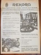 REKORD TIRES BELGRADE (Serbia) Yugoslavia / Rubber Tyre Pneu Banden Reifen Neumático Tracteur Traktor - Tracteurs