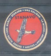 STANAVO VIÑETA VIGNETTE LABEL CINDERELLA UNA CALIDAD NAFTAS GRASAS Y ACEITES DE AVIACION RARISIME ARGENTINA CIRCA 1945 - Fantasie Vignetten