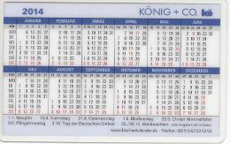 BRD Nethpen Siegen Hockenheim Taschenkalender 2014 König + Co. GmbH Kesselböden Oberflächentechnik - Calendars