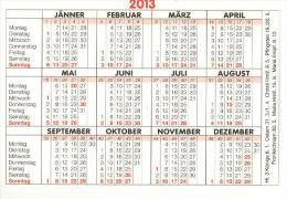 BRD Gleisdorf Taschenkalender 2013 Binder GmbH Anlagenbau - Calendars
