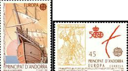 Andorra 230/31 ** Europa 1992 - Unused Stamps