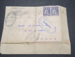 PORTUGAL - Enveloppe Pour La France En 1917 Avec Censure - Lot P12280 - 1910-... République