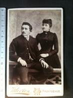 Photo De Cabinet Cdv - Jeune Couple Bourgeois, Morton Providence Rhodes Island U.S.A. - Ancianas (antes De 1900)