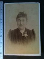 Photo De Cabinet Cdv 1891 - Femme élégante, Carl Bellach Leipzig Allemagne - Anciennes (Av. 1900)